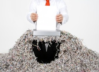 Shredding files and documents