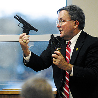 Which gun is which, an alleged real one or just another gun planted on an innocent victim?